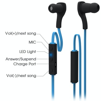 Sport hörlurar/ headset  Bluetooth 4.1 HS06 Blå