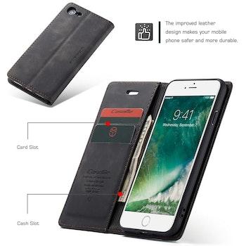 CaseMe-013 Multifunktionellt fodral för iPhone 7 / 8 Svart