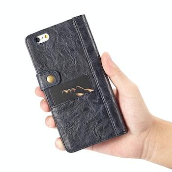CaseMe för iPhone 6& 6S  Crazy Horse textur läderfodral Marinblå