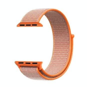 För Apple Watch 42/44mm Nylon Loop med kardborreknäppning Orange