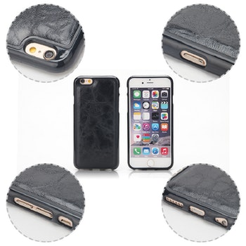 2i1 Plånboksskal i läder av hög kvalitet  Iphone 6 Vit