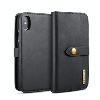 DG. MING magnetiskt 2i1 plånboksskal Iphone X Svart
