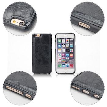 2i1 Plånboksskal i läder av hög kvalitet  Iphone 7 brun