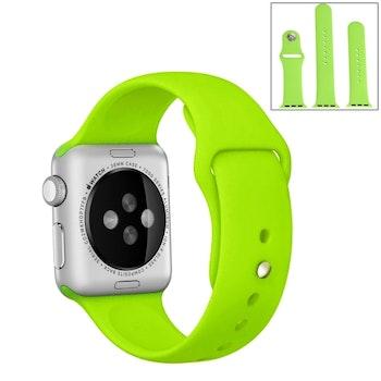 För Apple Watch 42/44mm  silikon Sport klockarmband Grön