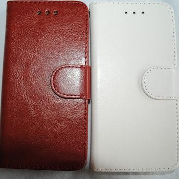 Plånkboksskal i läder av hög kvalitet till Samsung S7 Edge Brun