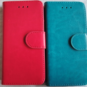 Plånkboksskal i läder av hög kvalitet till Samsung S7 edge Turkos