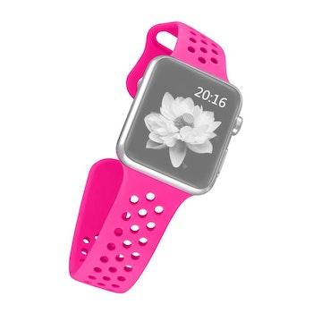 Sport Silikon armband till Apple Watch 42/44 mm. S/M Magenta