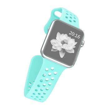 Sport Silikon armband till Apple Watch 42/44 mm. S/M Mintgrön