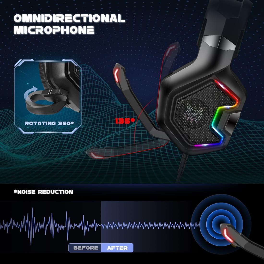 Onikuma K10 PRO Gaming Headset Med Mikrofon