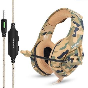 ONIKUMA K1B 3.5mm Stereo gaming headset med Mikrofon camo sand