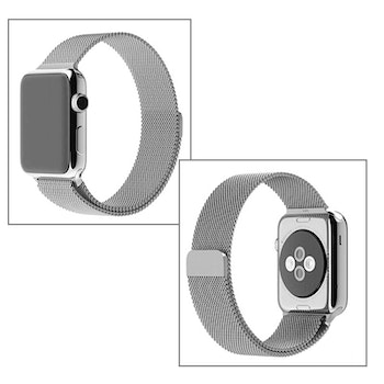Milanese Loop Magnetic Rostfritt  apple watch armband 42/44 mm Silver