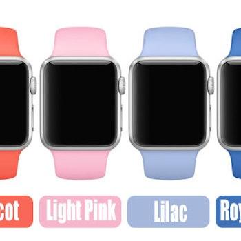 Silikon armband till apple watch 38 mm. S/M LJusrosa