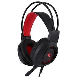 HAMTOD V1000 Dual-3.5mm Gaming Headset röd