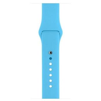 Sportigt silikon klockarmband till Apple watch 42/44 mm. M/L Ljusblå