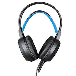 HAMTOD V1000 Dual-3.5mm Gaming Headset blå