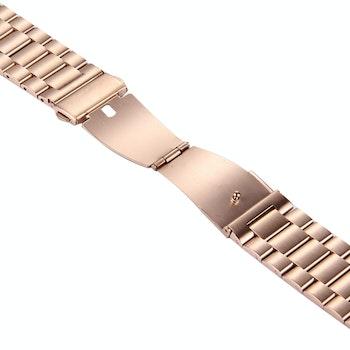 Butterfly Buckle 3 Beads Stainless Steel Apple Watch 42/44 mm Roséguld