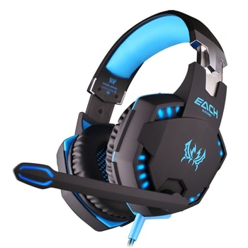Kotion Each G2100 Gaming Headset Med Vibrationsfunktion blå