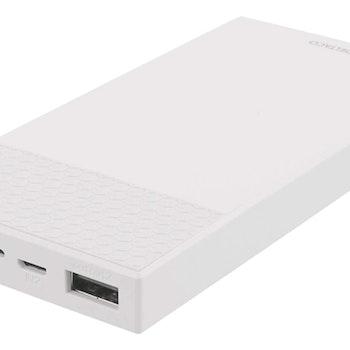 DELTACO 10 000 mAh Powerbank, 2x USB-A, 2.1A, LED-indikator