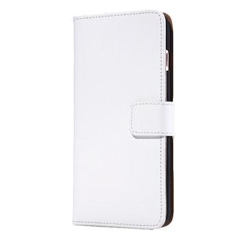 Plånboksskal i äkta läder av hög kvalitet. Iphone 7/8 vit