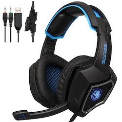 SADES WOLF SPIRIT Gaming headset Blå