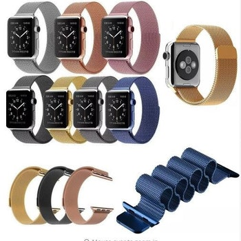 Milanese Loop Magnetic Rostfritt  apple watch armband 42/44 mm Blå
