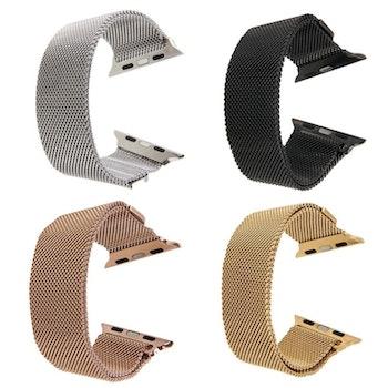Milanese Loop Magnetic Rostfritt  apple watch armband 38/40mm Svart