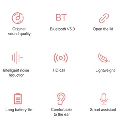 Lenovo X9 Bluetooth 5.0 Trådlös TWS Bluetooth-hörlurar
