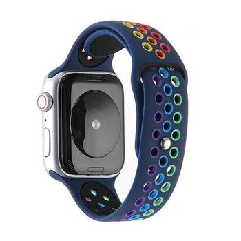 För Apple Watch 44/42mm Rainbow Sport Klockarmband