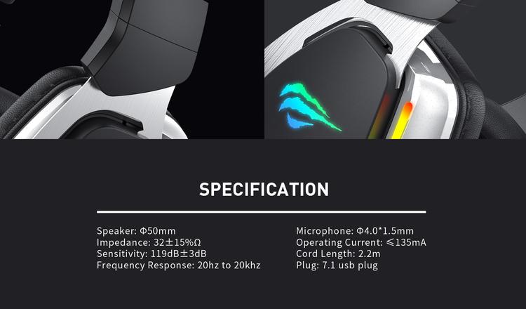 HAVIT HV-H2018U Surround 7.1 RGB Gaming Headset
