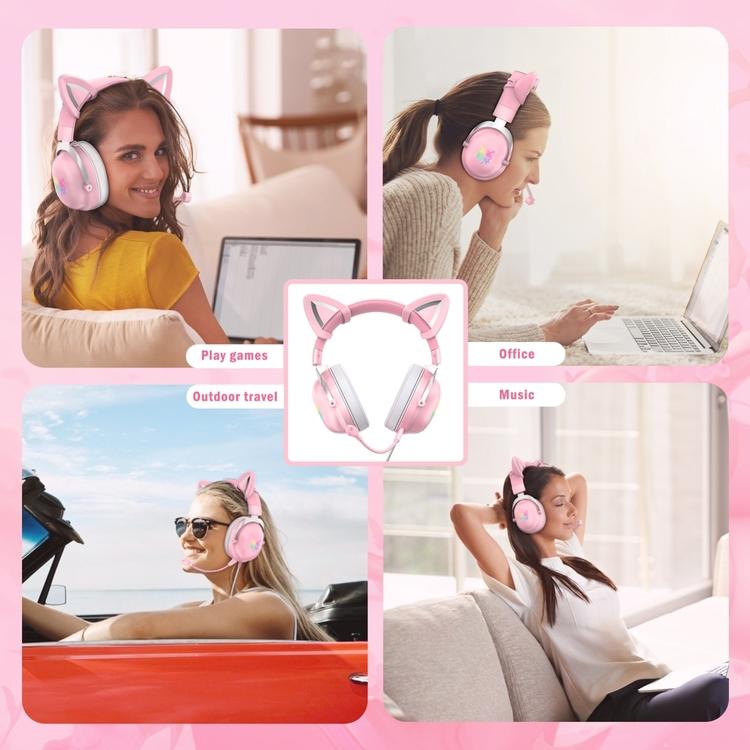ONIKUMA X11 headset med kattöron