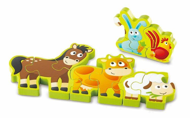 Hape Siffror & Bondgårdsdjur Träpussel