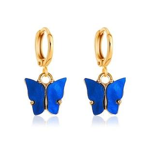 Darkblue Butterfly Earrings