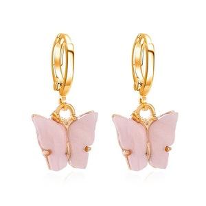 Light pink Butterfly Earrings