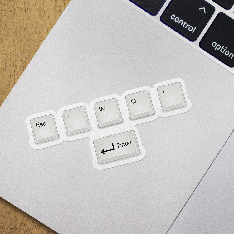 How To Exit Vim - Stickers