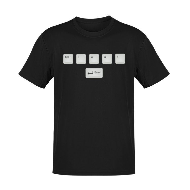 How To Exit Vim - Tshirt
