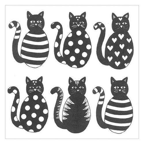 """Servetter """"Katter"""""""