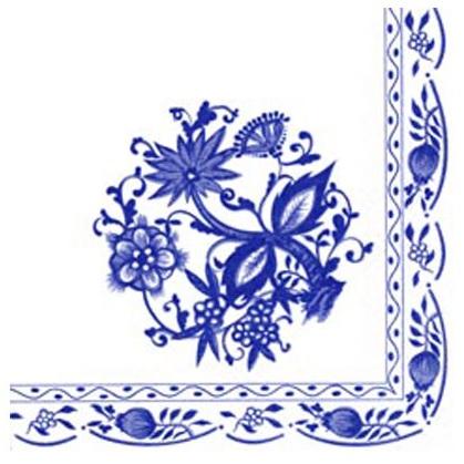 """Servetter """"Blå blom"""""""