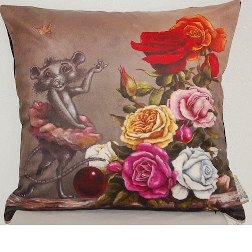 """Kuddfodral """"Ebba och rosorna"""""""
