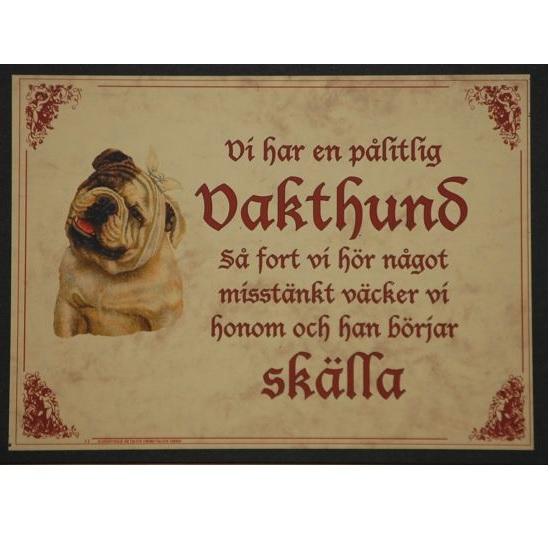 "Tavla (kloka ord) ""Vakthund"""