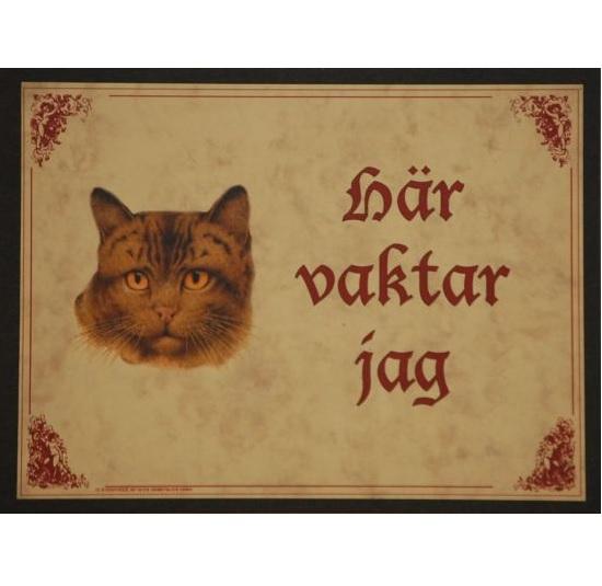 """Tavla (kloka ord) """"Katten vaktar"""""""