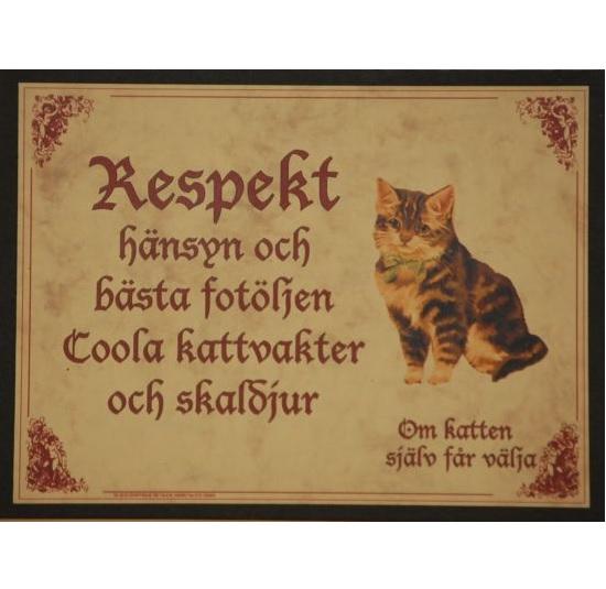 "Tavla (kloka ord) ""Kattens respekt"""