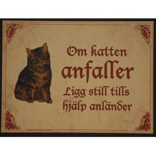 """Tavla (kloka ord) """"Katten anfaller"""""""