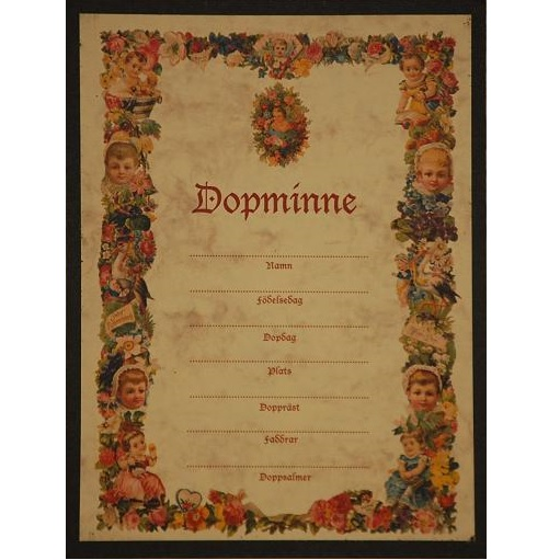 "Tavla (kloka ord) ""Dopminne"""