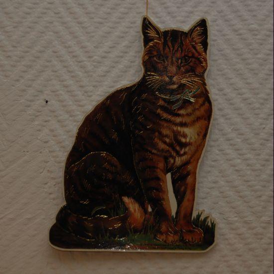 "Katt ""Sittande"" (papp)"