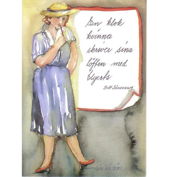 "Kort LW ""En klok kvinna..."""