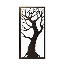 Skärmvägg Träd svart