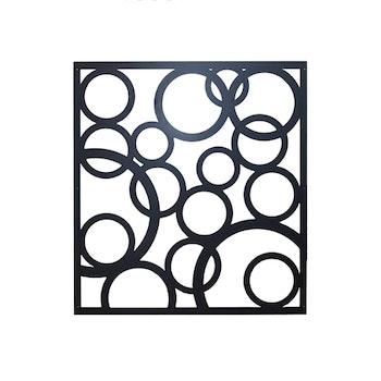 Skärmvägg Cirkel svart