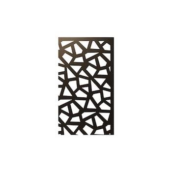 Skärmvägg Abstrakt svart