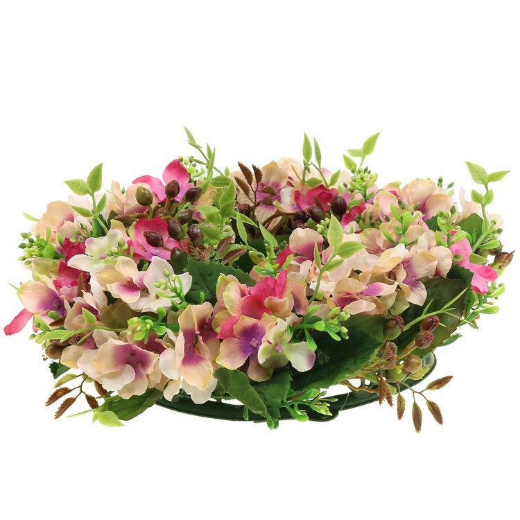Blomkrans Hortensia & Bärrosa Liten