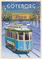 Postcard:  Tramp Göteborg Avenyn 13x18cm